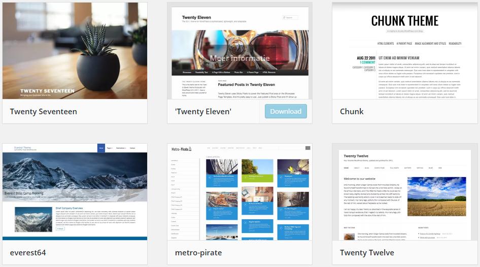 wordpress thema's webshop